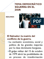 EL SISTEMA DEMOCRÁTICO DE POSGUERRA EN EL SALVADOR
