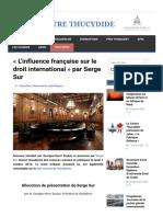«L'influence française sur le droit international» par Serge Sur – (1).pdf