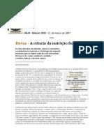 VEJA EDIÇÃO 2000 - DIETAS