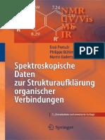 (Chemistry and Materials Science) Ernö Pretsch, Philippe Bühlmann, Martin Badertscher (auth.) - Spektroskopische Daten zur Strukturaufklärung organischer Verbindungen-Springer-Verlag Berlin Heidelberg.pdf