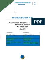 INFORME DE GESTION PSIS SAS AÑO 2019