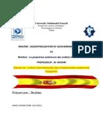 Actions internationales des communautés autonomes Espagnole
