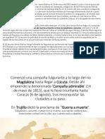 La Campaña Admirable emprendida por Simón Bolívar el para ppt