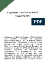 SYSTÈME CONSTITUTIONNEL BRITANIQUE