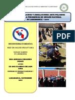 PLAN HUAYTARA SIMULACROS Y SIMULACIONES 2019