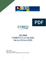 Informe CORFO Calidad NCH 2909