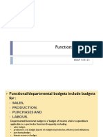 2. Functional budgets