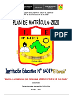 Plan de Matricula 2020 64017