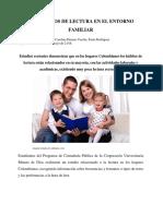 LOS HÁBITOS DE LECTURA EN EL ENTORNO FAMILIAR