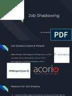 job shadow presentation