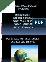Politicas de Eficiencia Energetica Europa