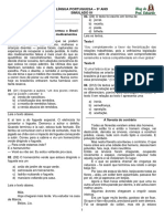 Simulado 01 - Língua Portuguesa 9º Ano - Prof. Eduardo