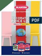 油漆价钱plascon Price List - June 2018 - Print Ready