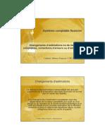 changement de méthodes, d'estimation et erreurs selon NSCF