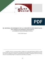 LECTURA MODELO ECONOMICO DE  BOLIVIA