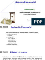 Unidad I tema 1 Fundament del Estado derecho empresa comercio