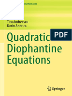 Quadratictis Diophantine Equations