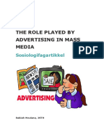 The role played by advertising in mass media.docx