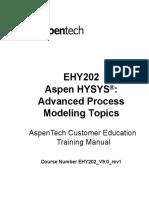 Aspen HYSYS Advanced Process Modeling EHY202