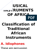 B. MUSICAL INSTRUMENTS OF AFRICA