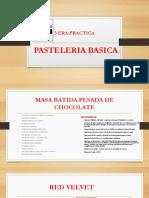 3 ERA CLASE PASTELERIA BASICA