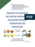 PROYECTO DEPORTIVO 2015-2016 CREN PREESCOLAR
