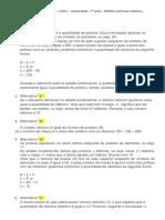 2.4.GABARITO - Lista de atividades  – Aula 2 - Atomicidade - 2º parte – Modelos partículas atômicas, comparando átomos..docx