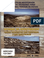 Proyecto Negociacion y Toma de Decisiones Para Comunidades Mineras Potosi