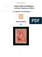 2010 Book No. 1 Argentina 1935-51 Definitives, Completeness Review of Regulars and Officials, 1935-1938 (1E1 and 1E2 Papers), 2nd Edition
