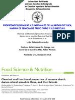 Seminario del Paper Propiedades funcionales almidón de yuca, trigo duro y mezclas