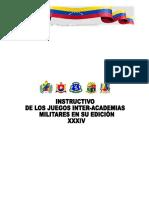 INSTRUCTIVO  GENERAL PARA XXXIV JUEGOS INTER