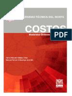 Costos por Órdenes de Produccion - LIBRO Costos