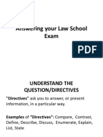 Answering your Law school exams