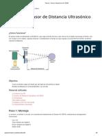 Tutorial - Sensor Ultrasónico HC-SR04