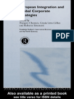 François Chesnais, Grazia Ietto-Gillies, Roberto Simonetti - European Integration and Global Corporate Strategies (2000, Routledge)