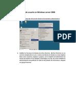 Altas de usuario en Windows server 2008