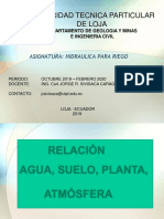 Relacion suelo agua plant