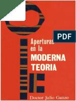 Ganzo Julio - Aperturas en la moderna teoria, 1965-OCR, X, 212p