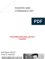 THEATER AND PERFORMANCE ART