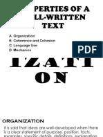 Properties of well-written Text