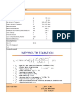WAYMOUTH CALCULATION