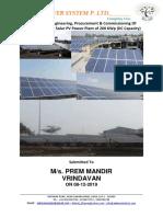 Aaakar - 200 KWp  Grid-Tied solar power plant