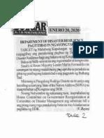 Bulgar, Jan. 20, 2020, Department of Disaster resilience pagtitibayin ngayong taon.pdf