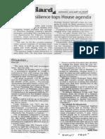 Manila Standard, Jan. 20, 2020, Disaster resilience tops House agenda.pdf