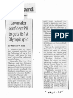 Manila Standard, Jan. 20, 2020, Lawmaker confident PH to gets its 1st Olympic gold.pdf