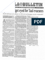 Manila Bulletin, Jan. 20, 2020, Special budget eyed for Taal evacuees.pdf