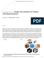 Guidelines for design and selection of module mounting structures _