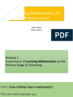 Learning Mathematics at Primary Level