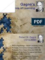 Gagne Conditions of Learning