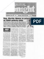 Peoples Tonight, Jan. 20, 2020, Rep. Martin House to prioritize passage of PRRD priority bills.pdf